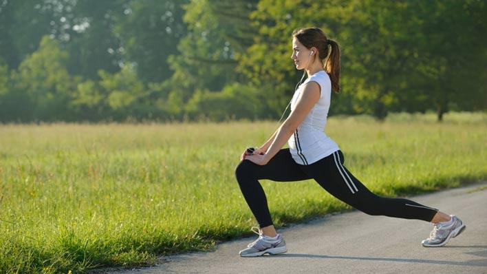انجام حرکات ورزشی